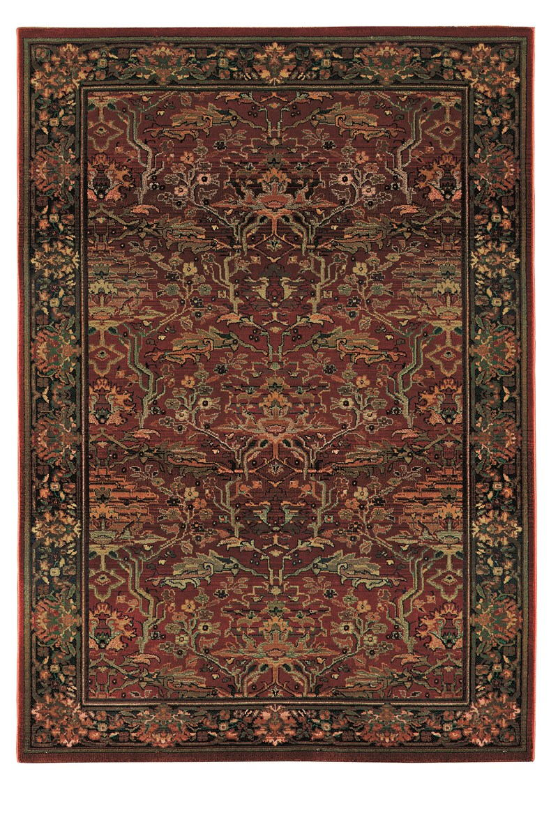 Oriental Weavers Kharma 465r4 Red Rug