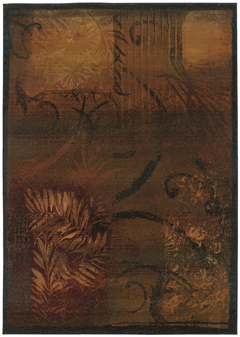 Oriental Weavers Kharma Ii 1163b Brown Rug