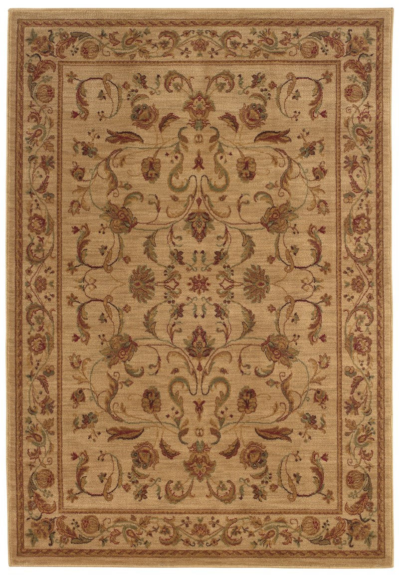 Traditional  Glamor Beige 5'3 X 7'6 Rug