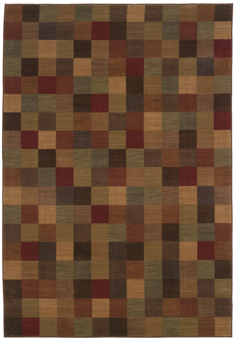 Contemporary  Glamor Brown 5'3 X 7'6 Rug