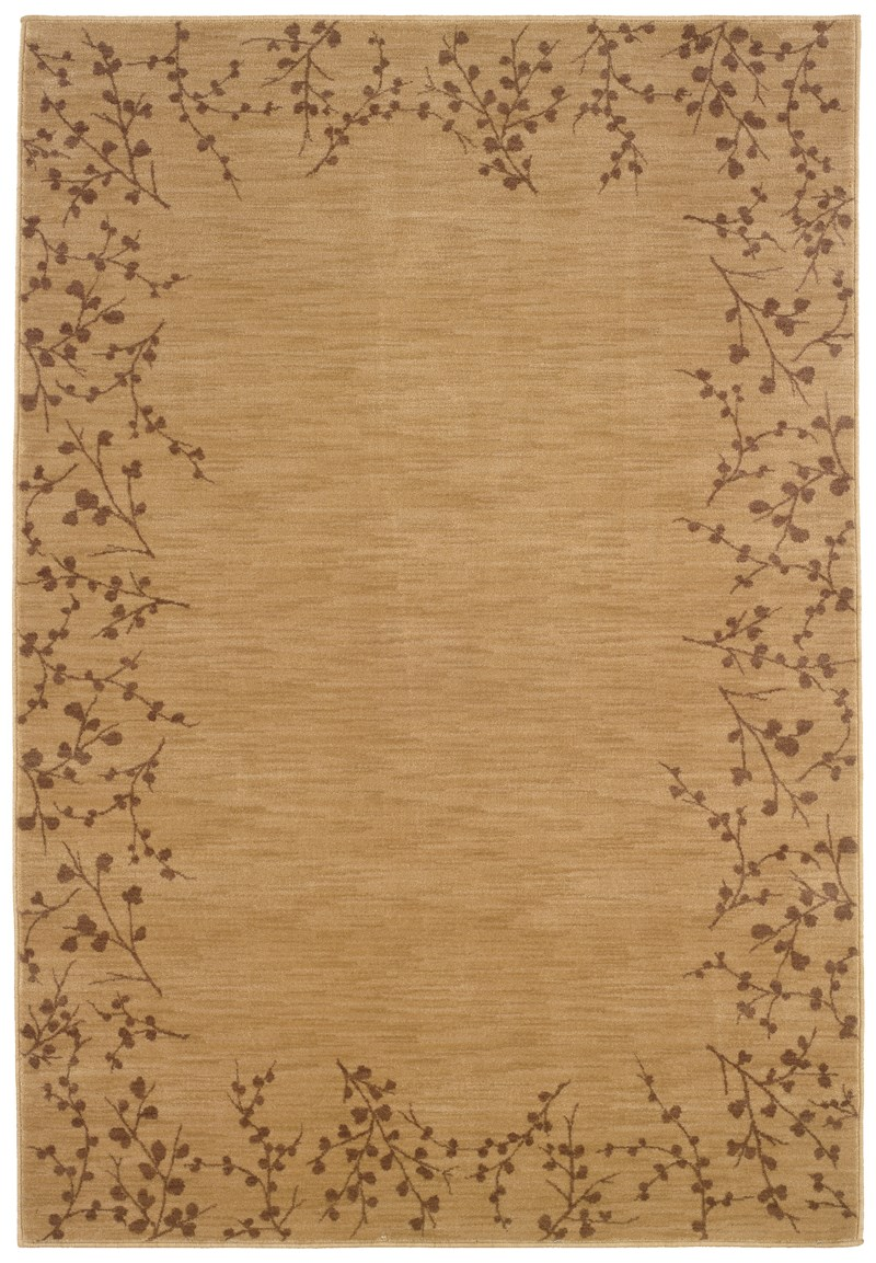 Contemporary  Glamor Beige 7'8 Rug