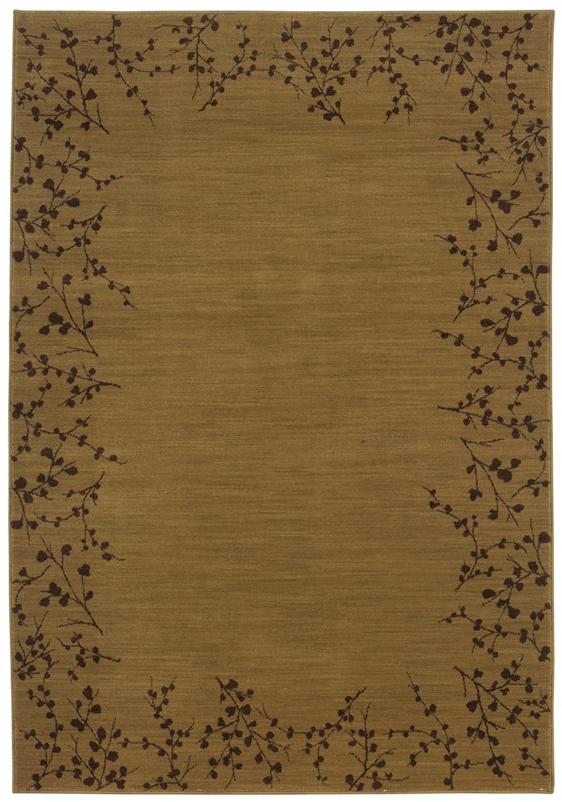 Contemporary  Glamor Gold 7'8 Rug