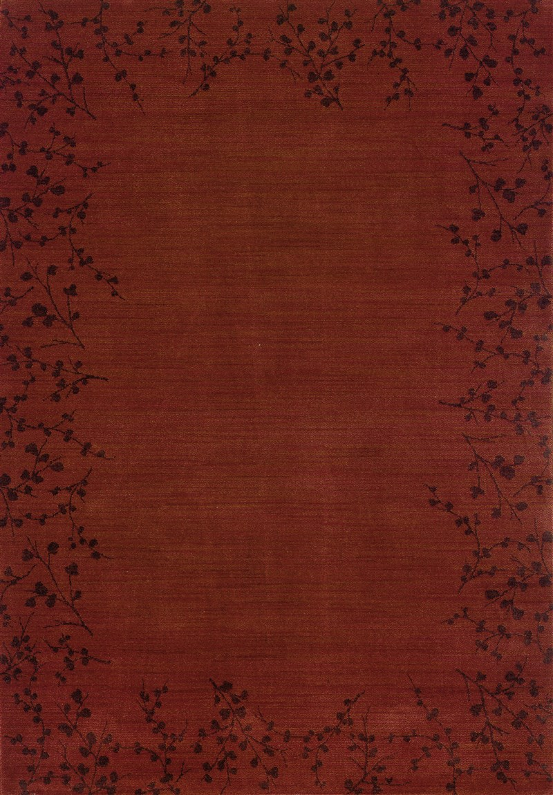 Contemporary  Glamor Red 5'3 X 7'6 Rug