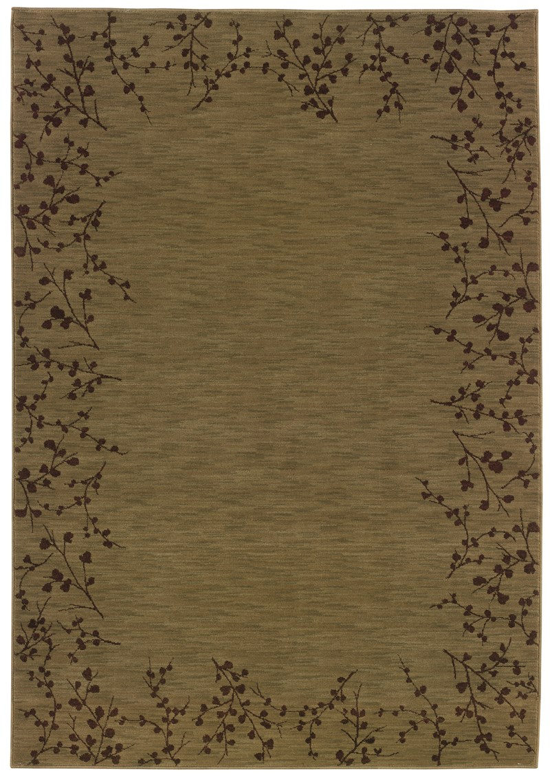 Contemporary  Glamor Green 5'3 X 7'6 Rug