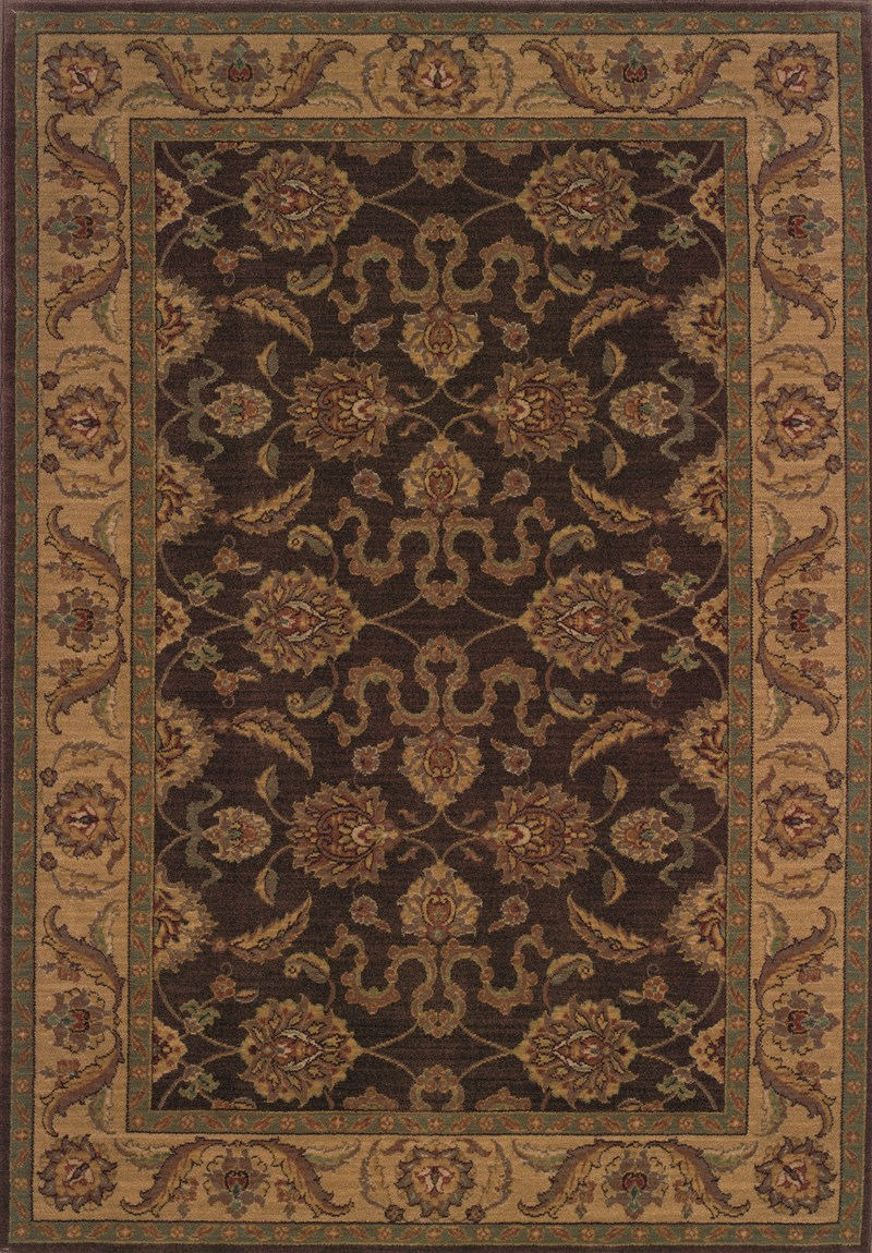 Traditional  Glamor Brown 7'8 Rug