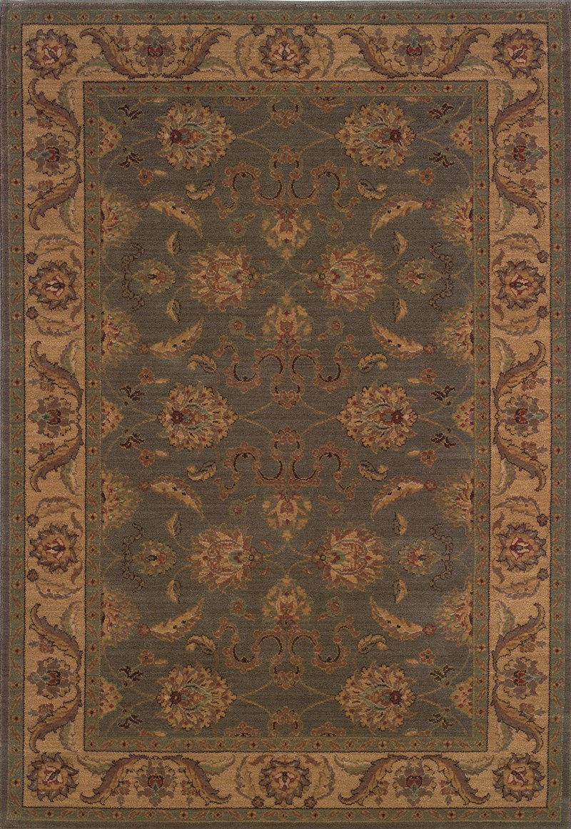 Traditional  Glamor Green 5'3 X 7'6 Rug