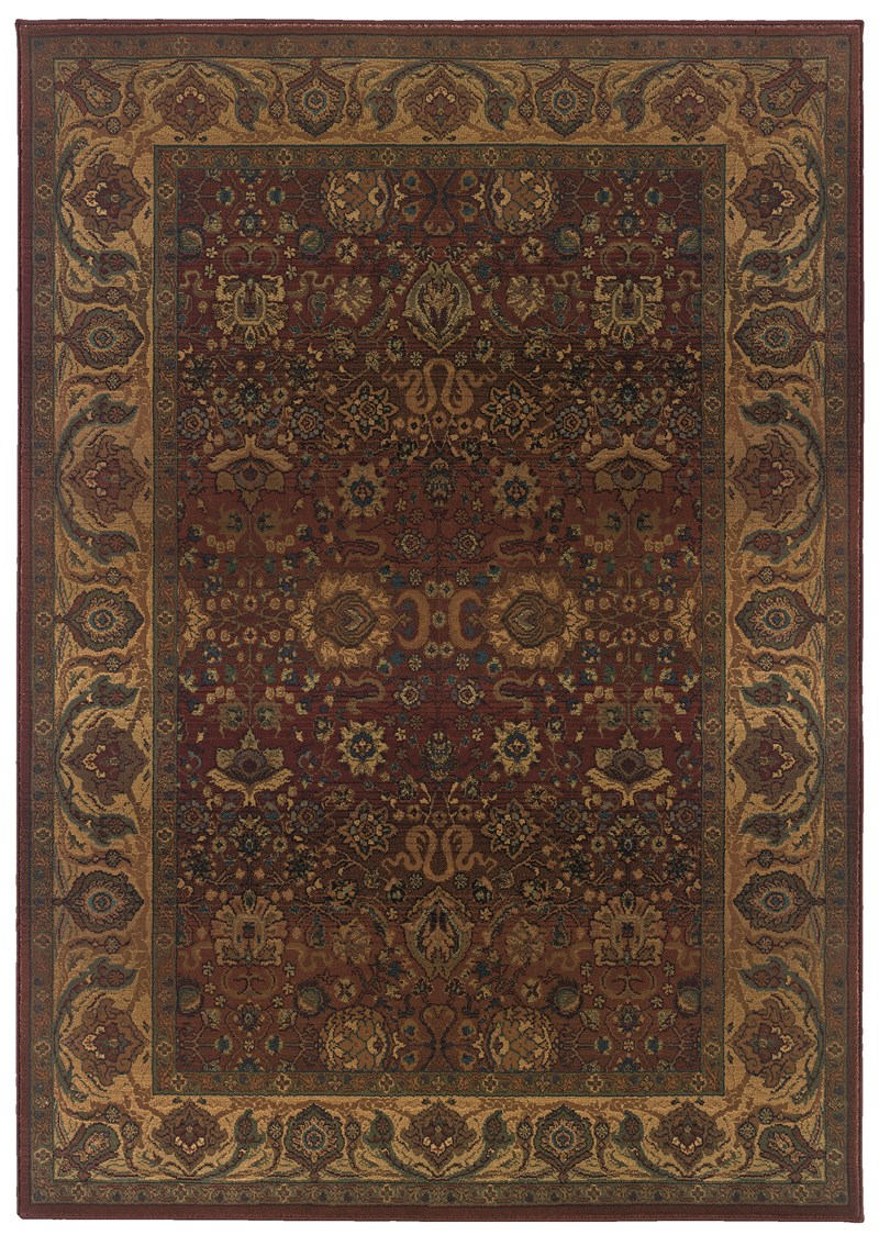 Oriental Weavers Kharma 332c4 Red Rug