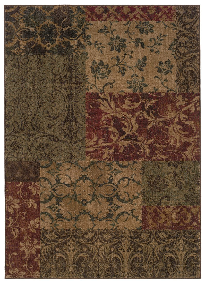 Contemporary  Glamor Green 6'7 X 9'6 Rug