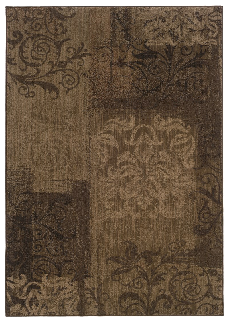 Traditional  Glamor Brown 7\'8 Rug