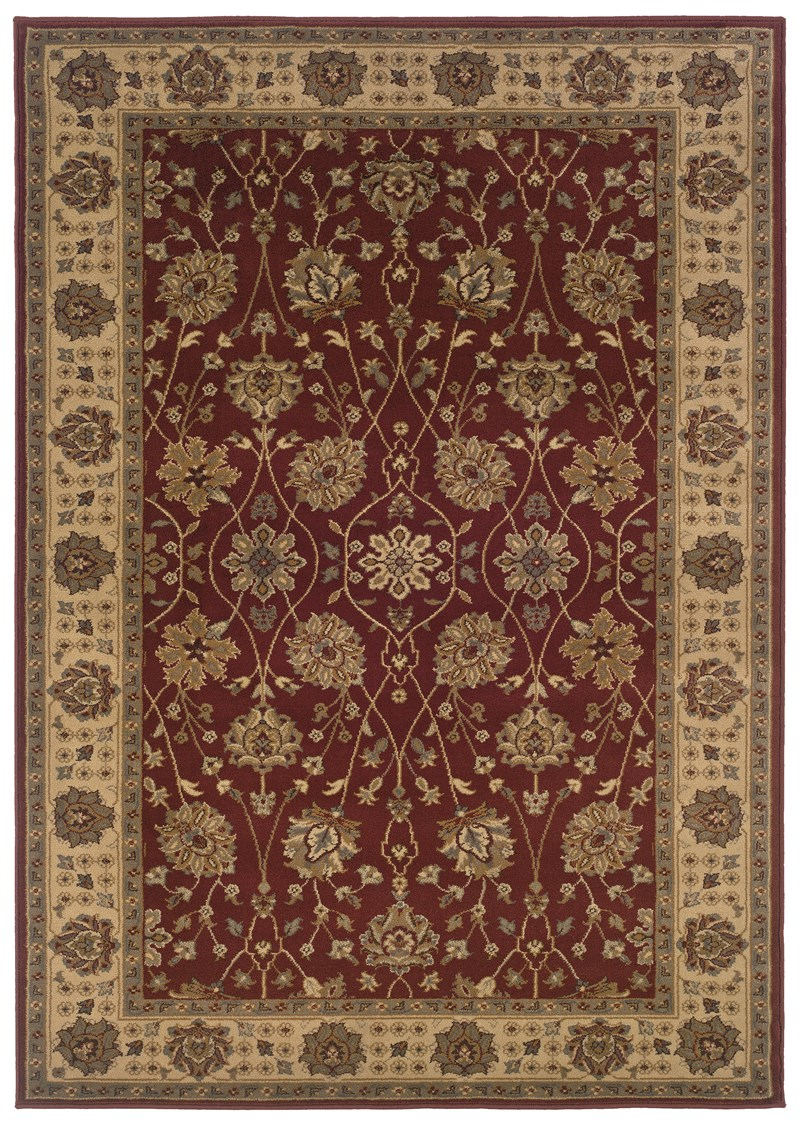 Oriental Weavers Tybee 733r Red Rug