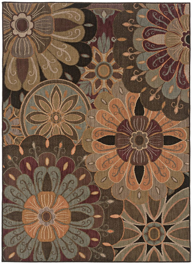 Contemporary Lorient Tan 7'8 Rug