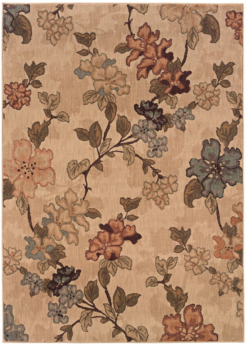 Contemporary Lorient Beige 3'-10 X 5'-5 Rug