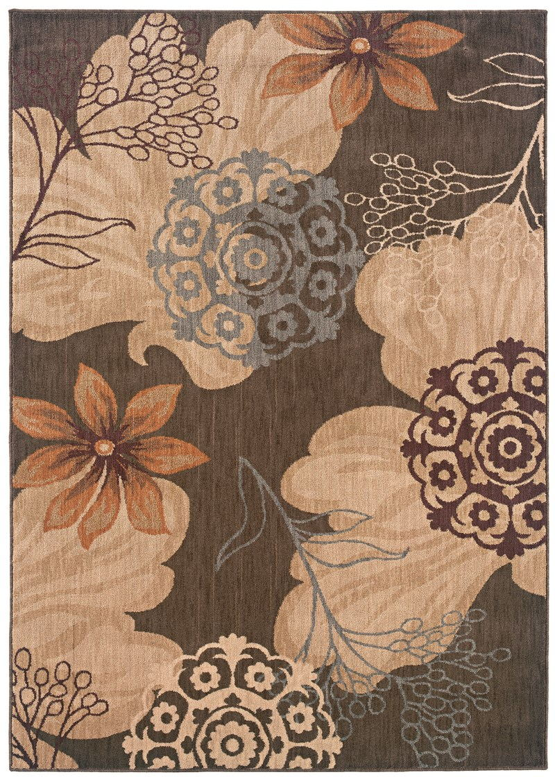 Contemporary Lorient Brown 5'3 X 7'6 Rug