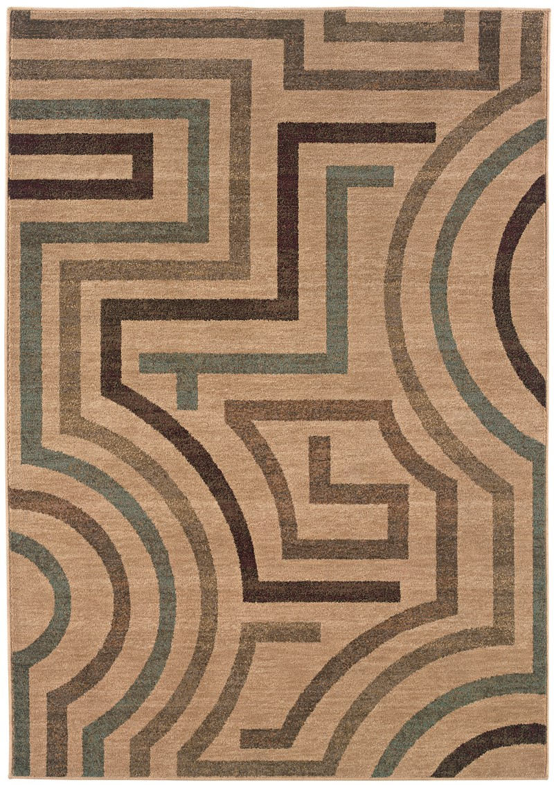 Contemporary Lorient Beige 5'3 X 7'6 Rug