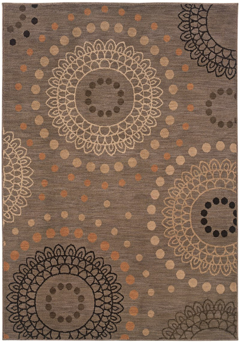 Contemporary Lorient Grey 7'-8 X 10'-10 Rug