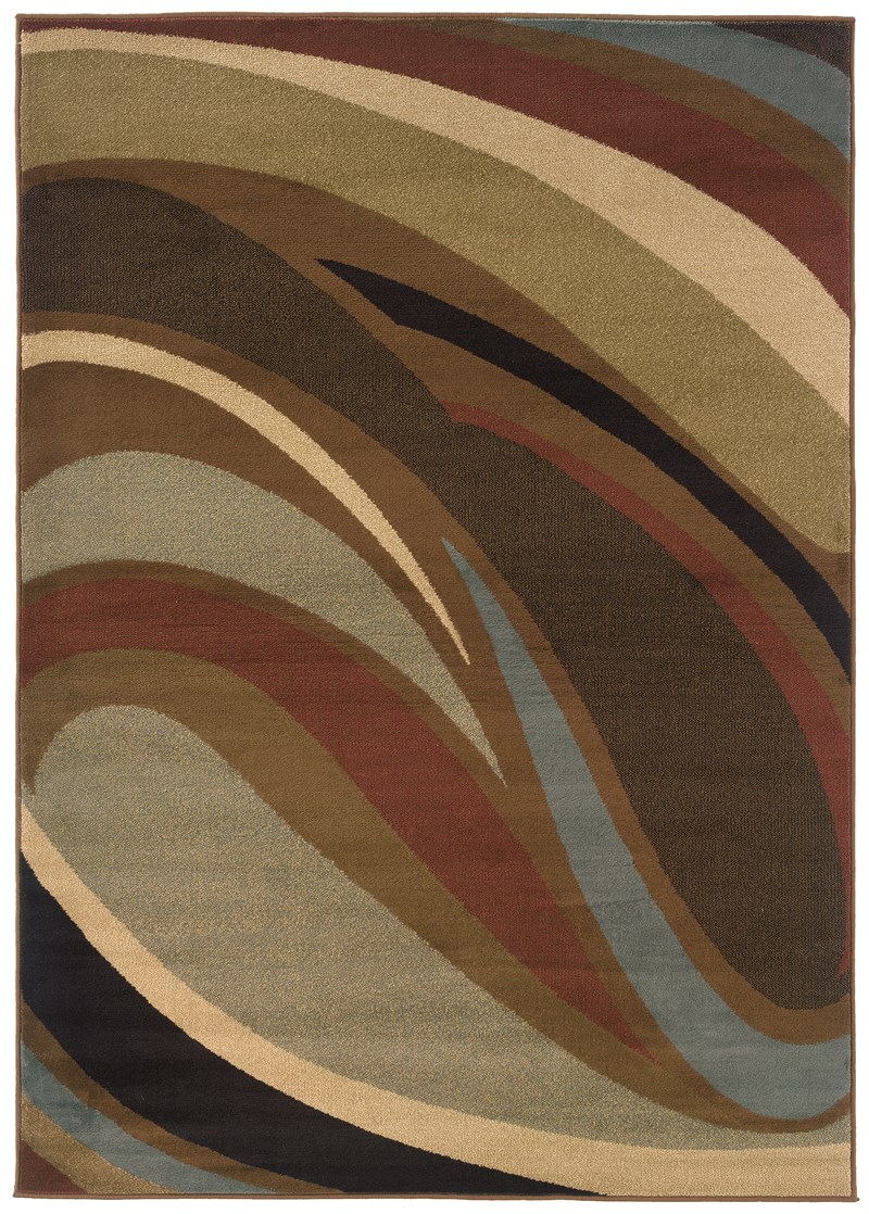 Contemporary Lorient Tan 3'-10 X 5'-5 Rug