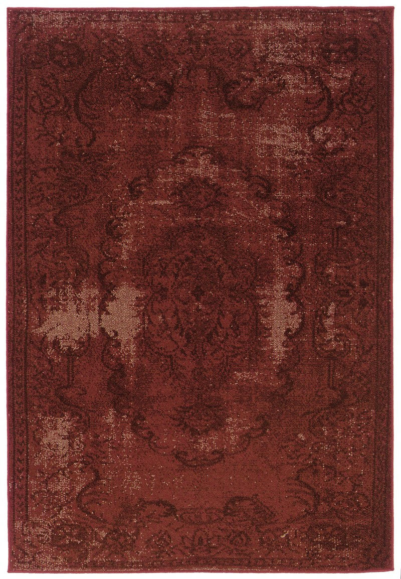 Oriental Weavers Revival 119r2 Red Rug
