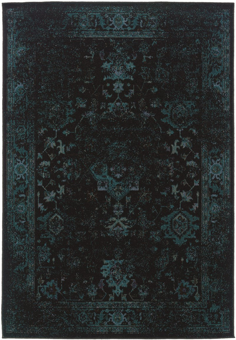 Oriental Weavers Revival 3689g Black Rug