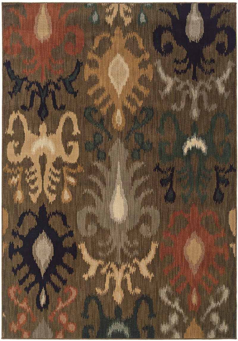 Oriental Weavers Kasbah 3830d Brown Rug
