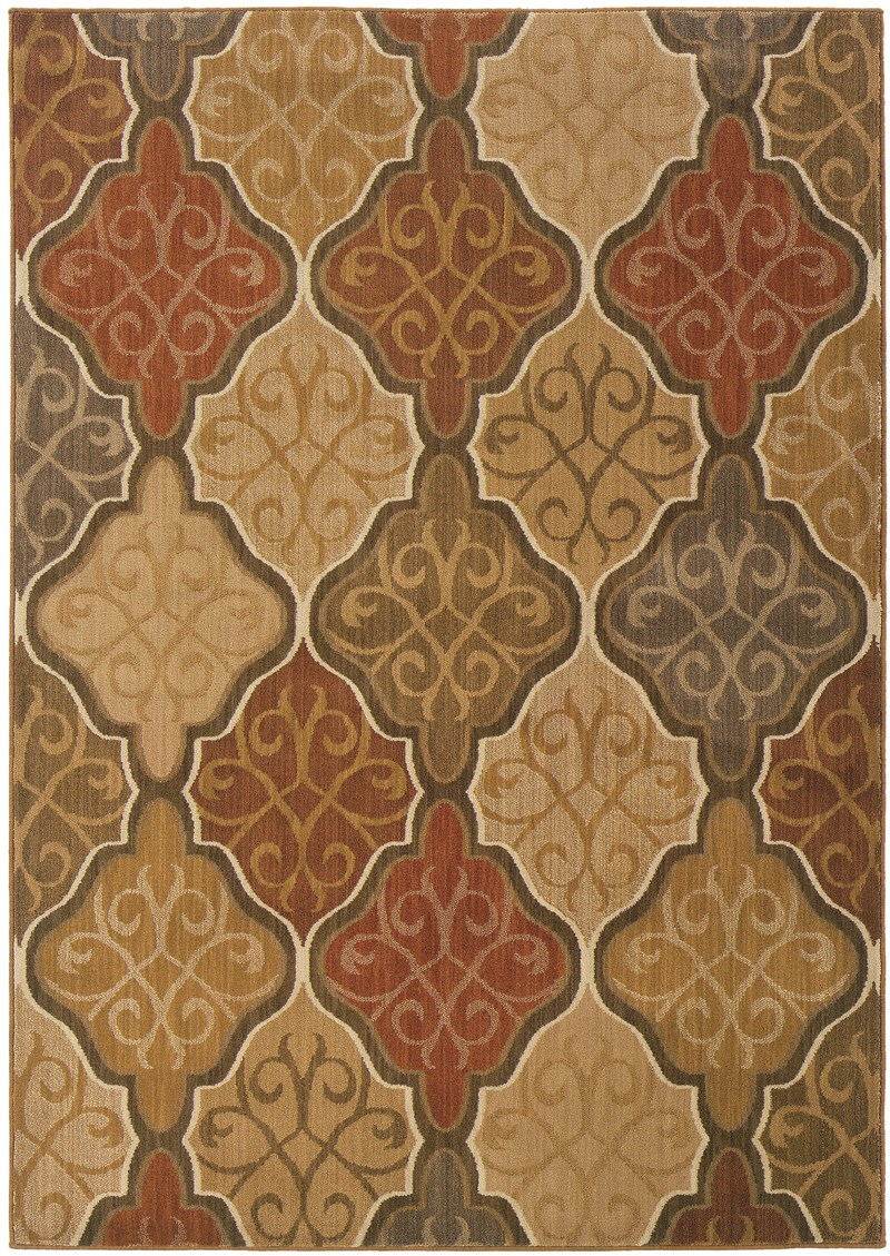 Oriental Weavers Kasbah 3832c Orange Rug