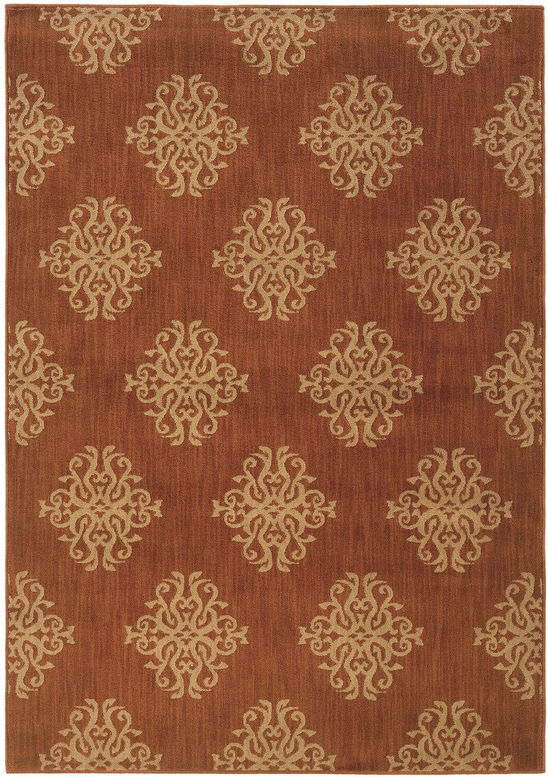 Oriental Weavers Kasbah 3835b Orange Rug