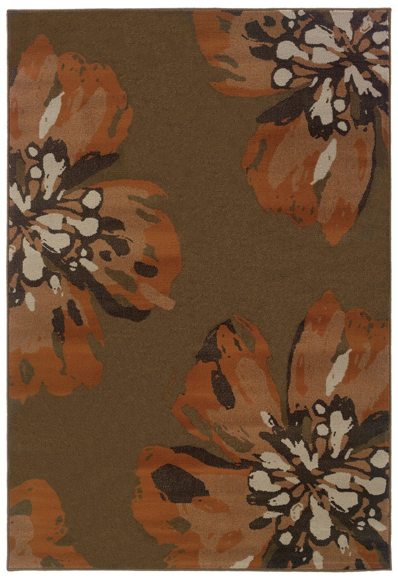 Oriental Weavers Adrienne 4130c Brown Rug