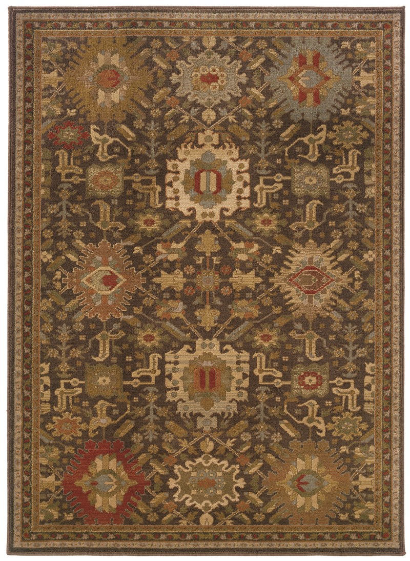 Oriental Weavers Casablanca 4444a Brown Rug
