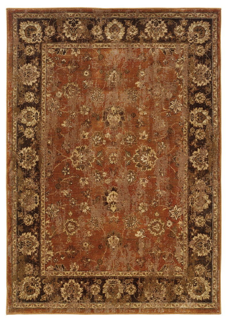 Oriental Weavers Casablanca 4465e Orange Rug