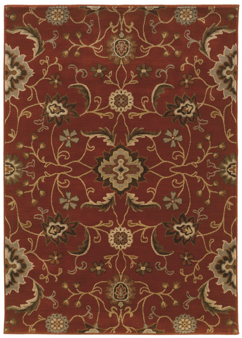 Oriental Weavers Casablanca 4471b Red Rug