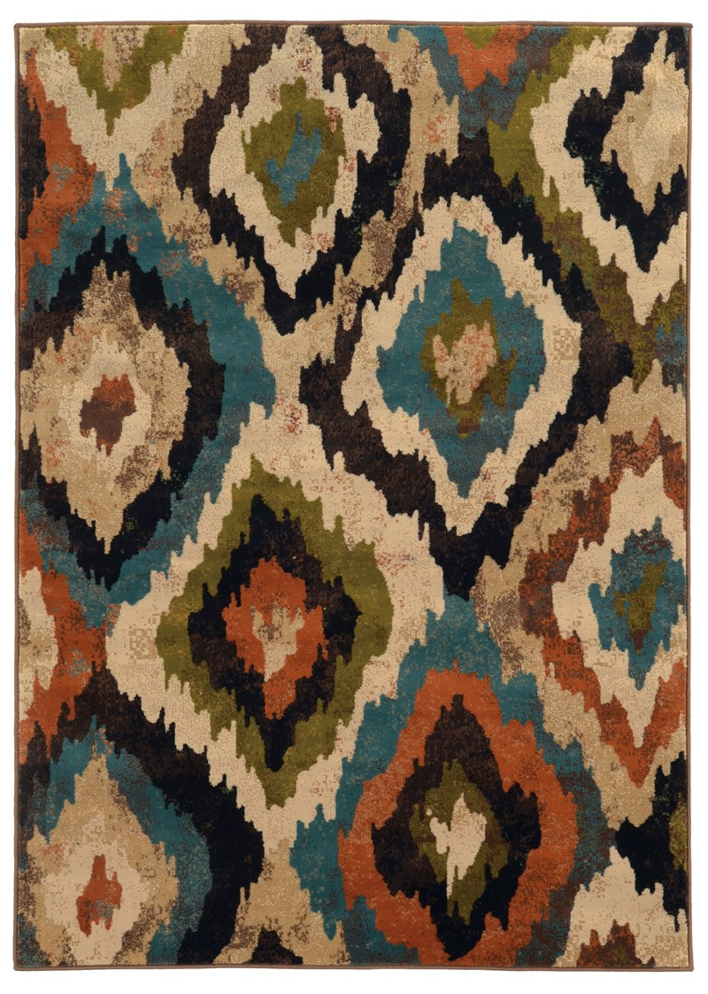Oriental Weavers Emerson 4875a Blue Rug