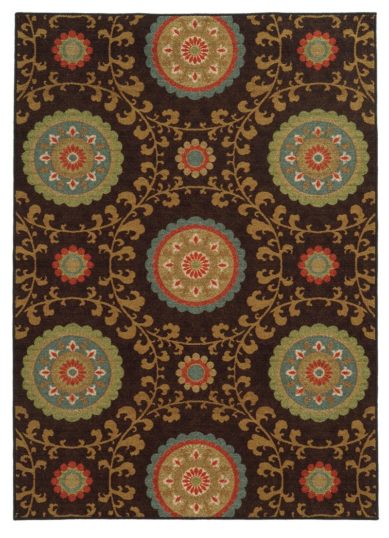 Oriental Weavers Arabella 15757 Brown Rug