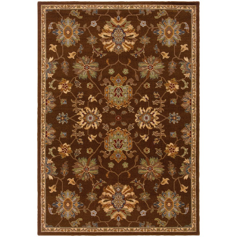 Oriental Weavers Ensley 001d0 Brown Rug