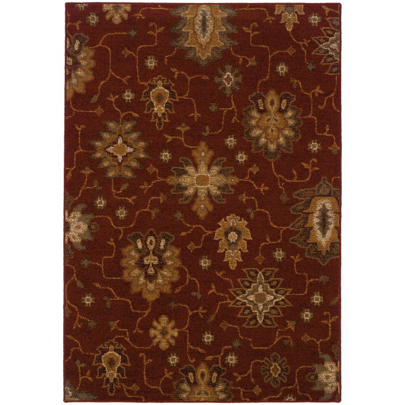 Oriental Weavers Ensley 8021r Red Rug