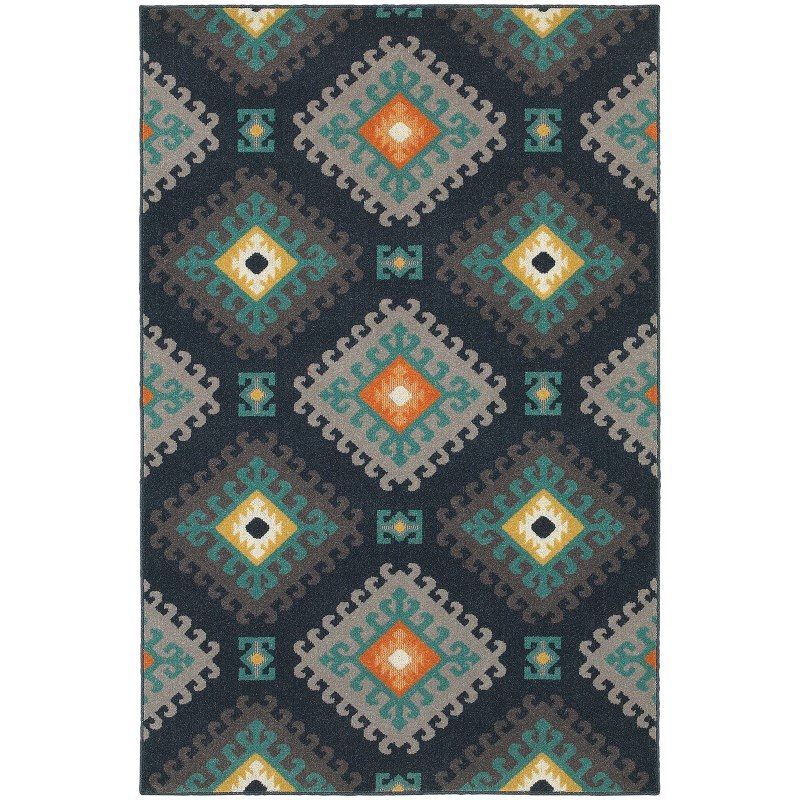 Oriental Weavers Hampton 4929b Navy Rug