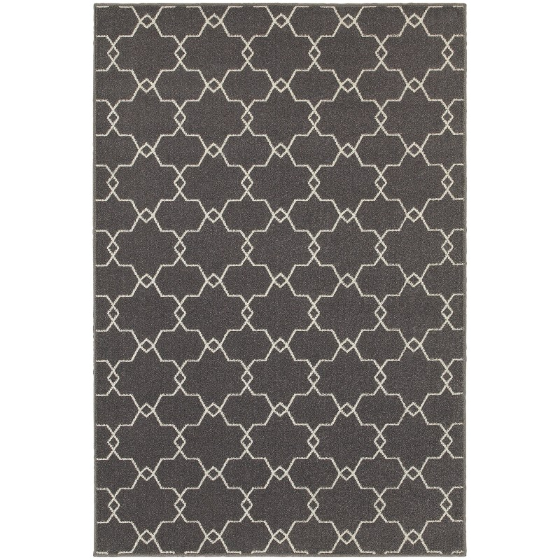 Oriental Weavers Hampton 537e5 Grey Rug