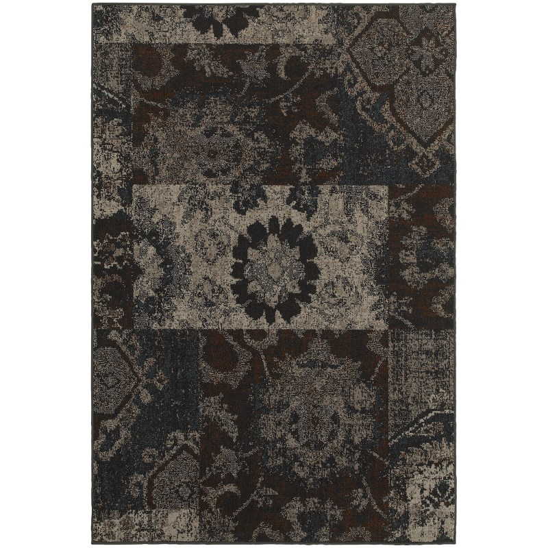 Oriental Weavers Revival 4712c Charcoal Rug