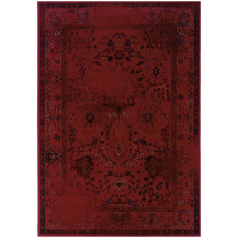 Oriental Weavers Revival 550r2 Red Rug