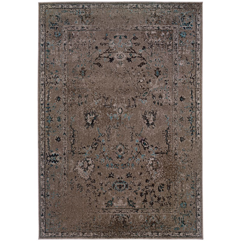 Oriental Weavers Revival 551q2 Grey Rug