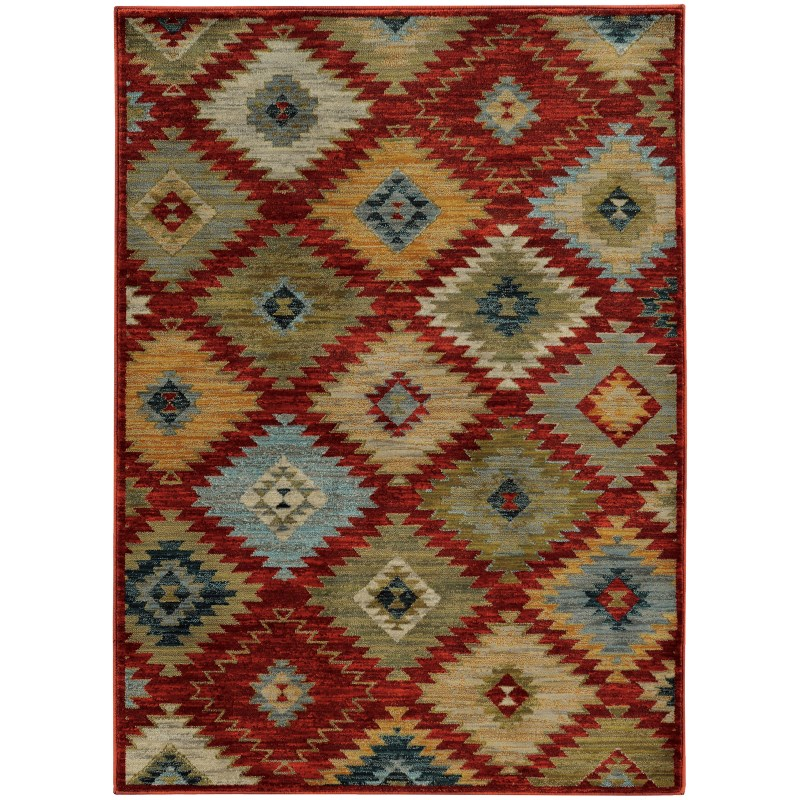Oriental Weavers Sedona 5936d Red Rug