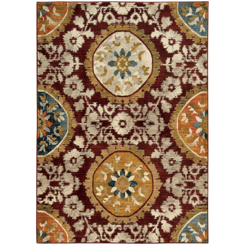 Oriental Weavers Sedona 6366a Red Rug