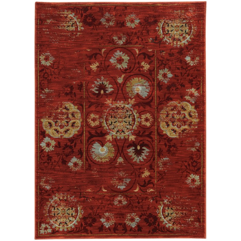 Oriental Weavers Sedona 6386e Red Rug