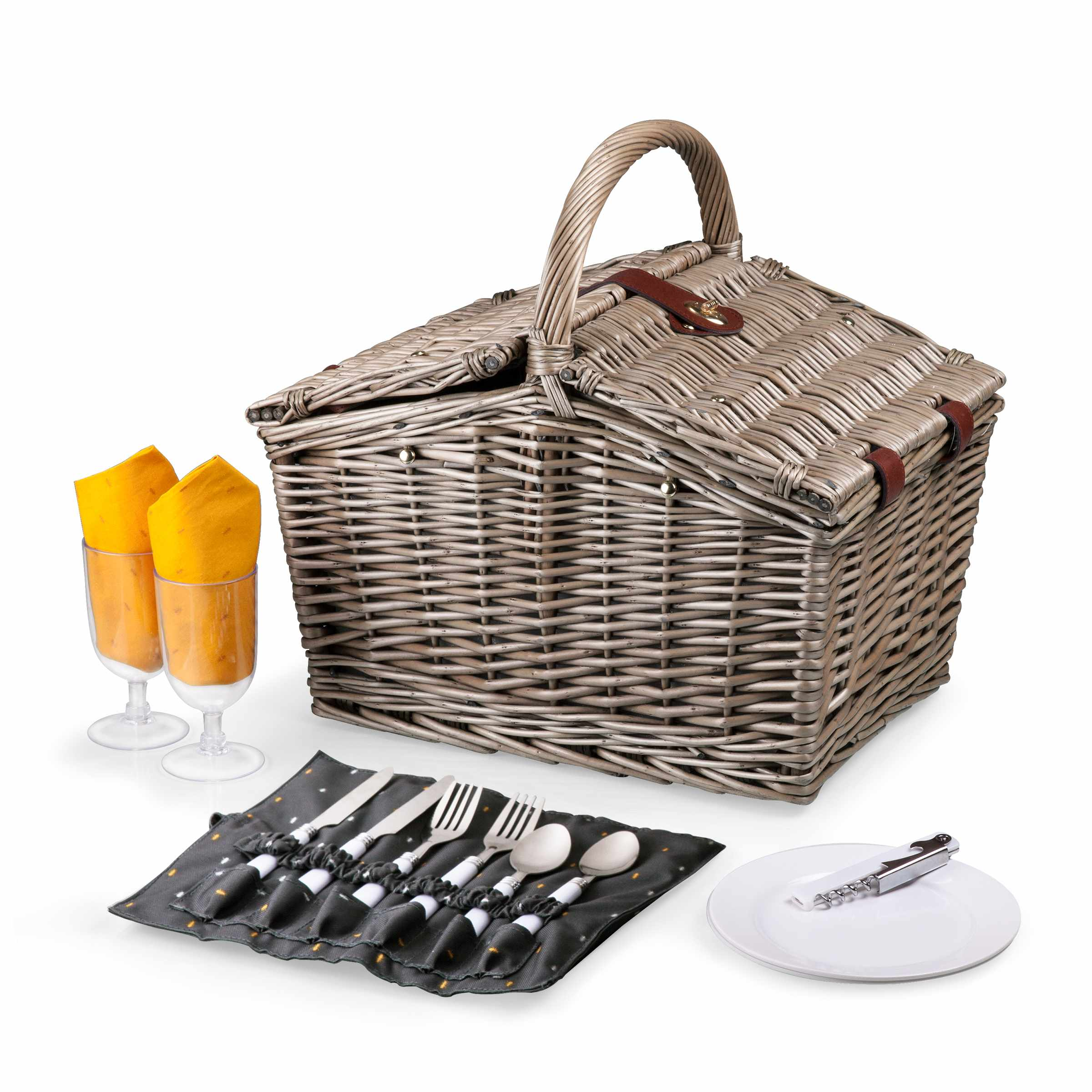 Piccadilly Picnic Basket Grey