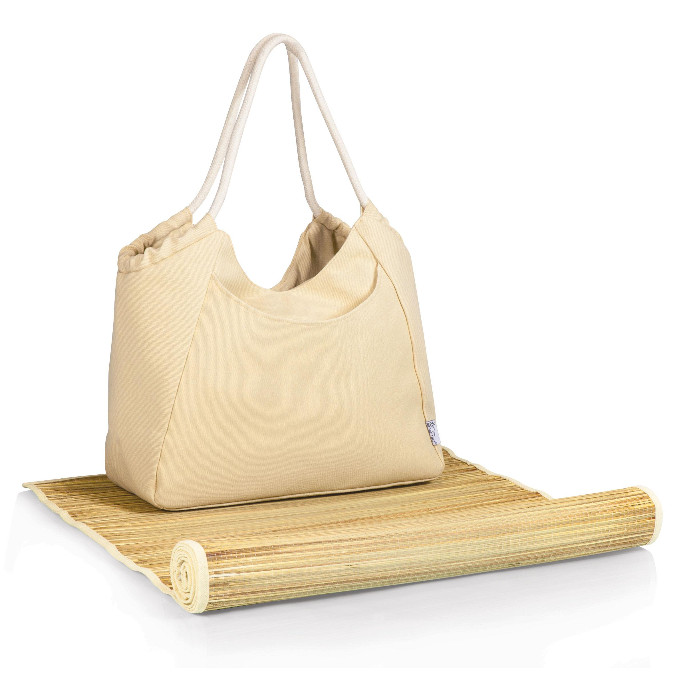 Cabo Beach Tote And Mat Beige