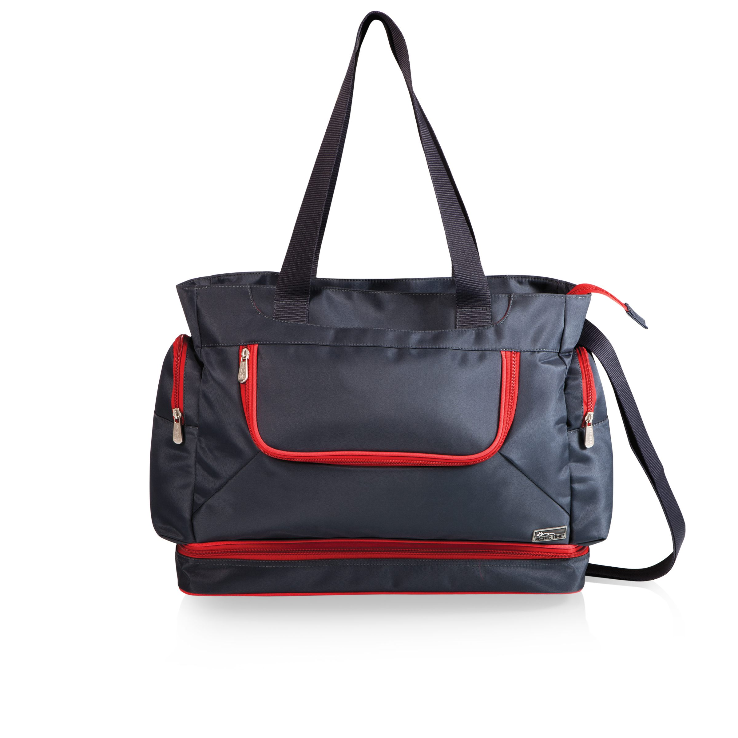 Beach Tote Grey/red