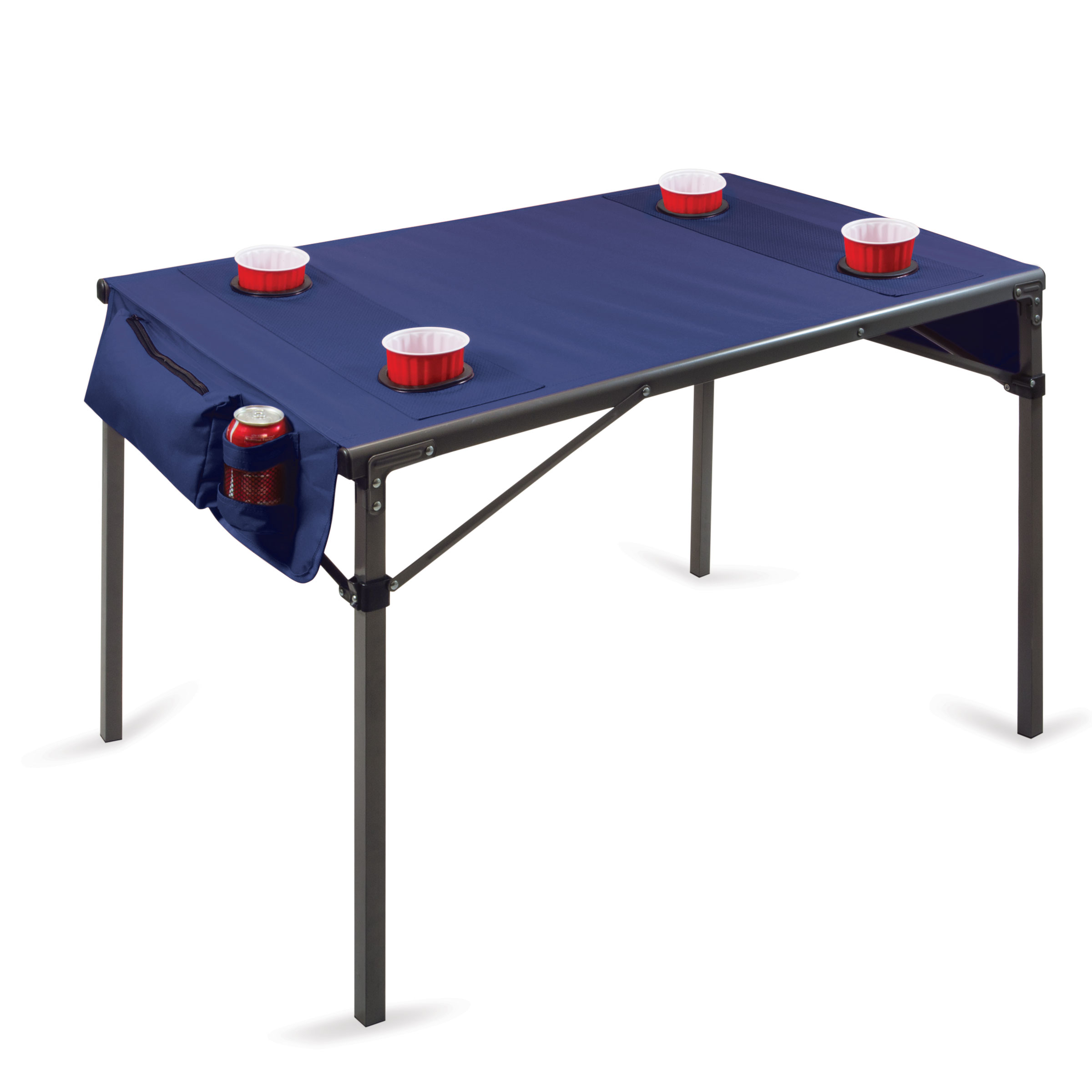 Travel Table Portable Folding Table Navy/grey