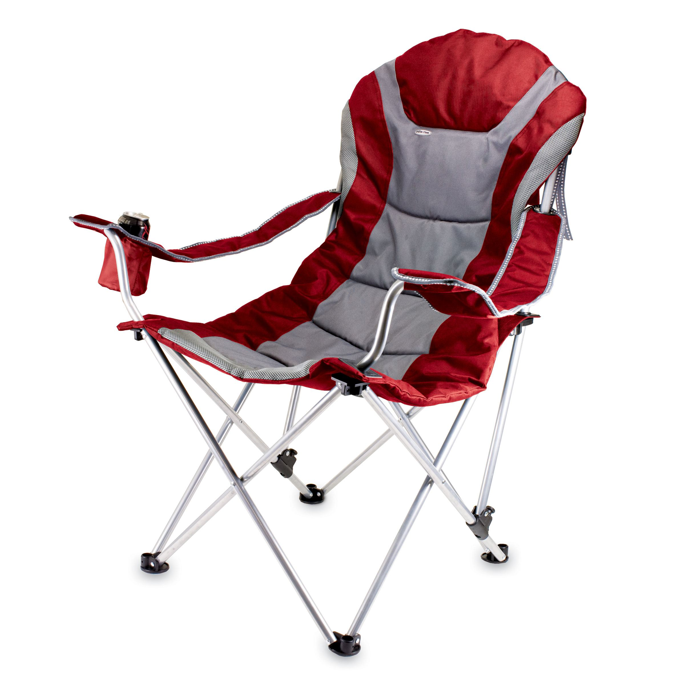 Reclining Camp Chair Dark Red
