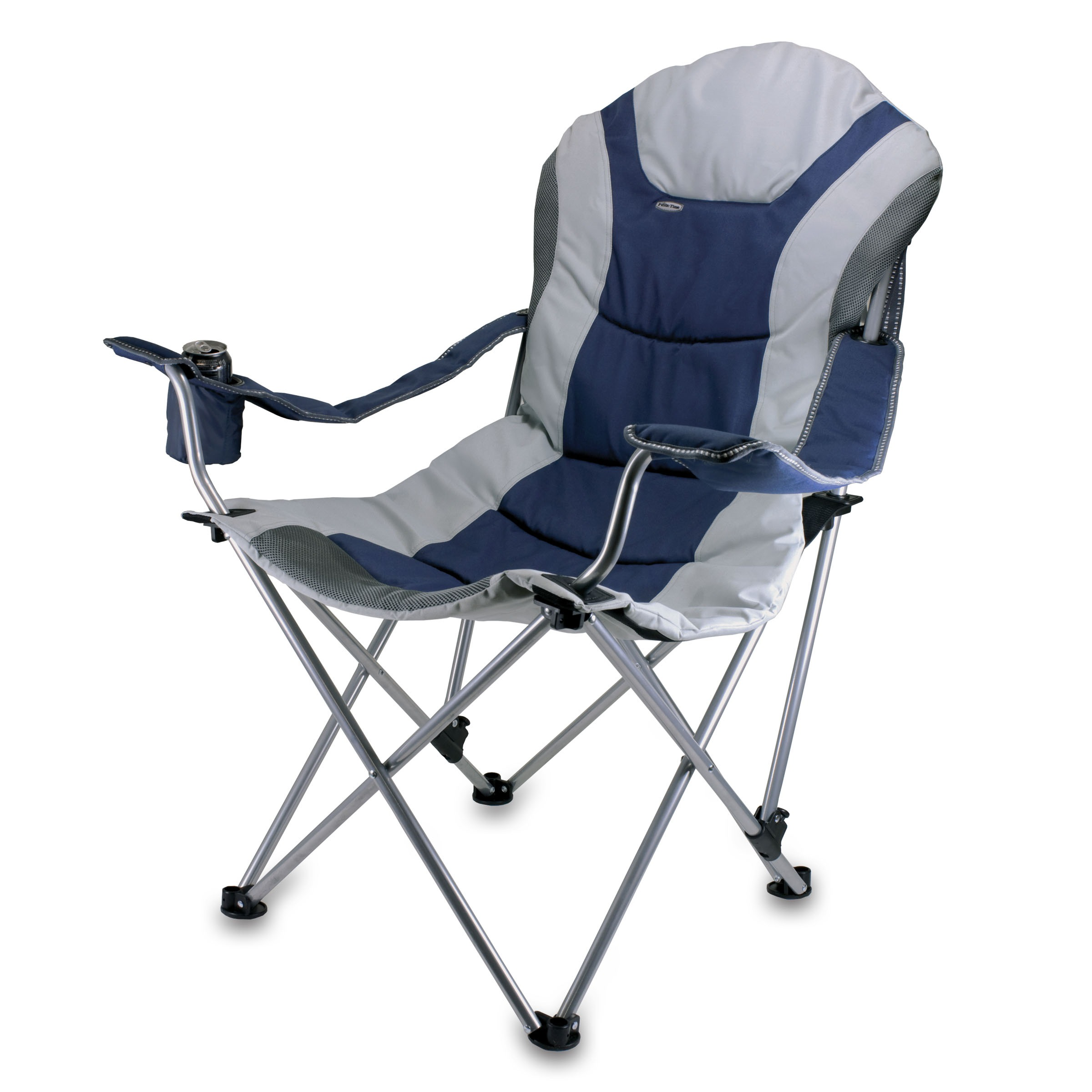 Reclining Camp Chair Navy/grey