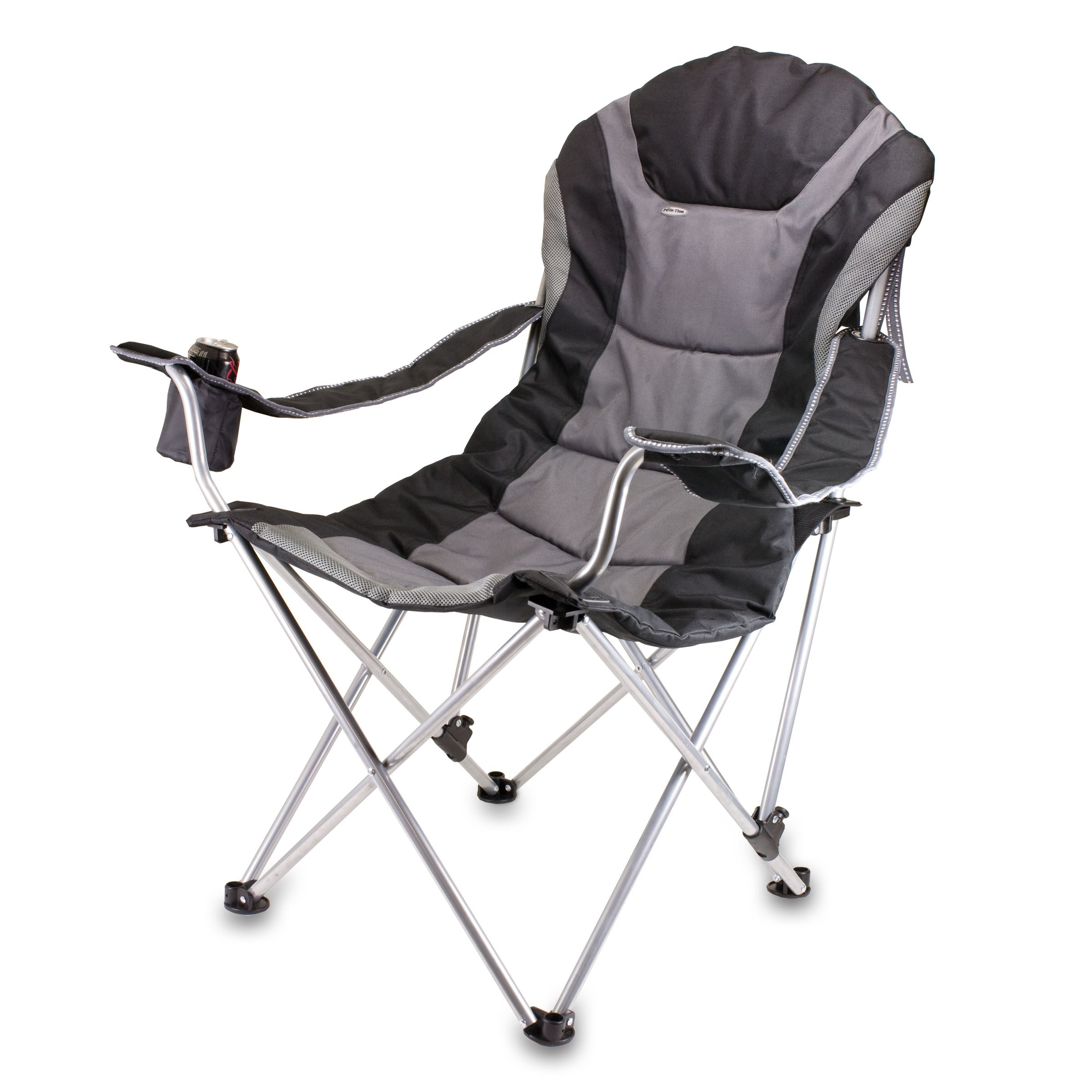 Reclining Camp Chair Black/grey