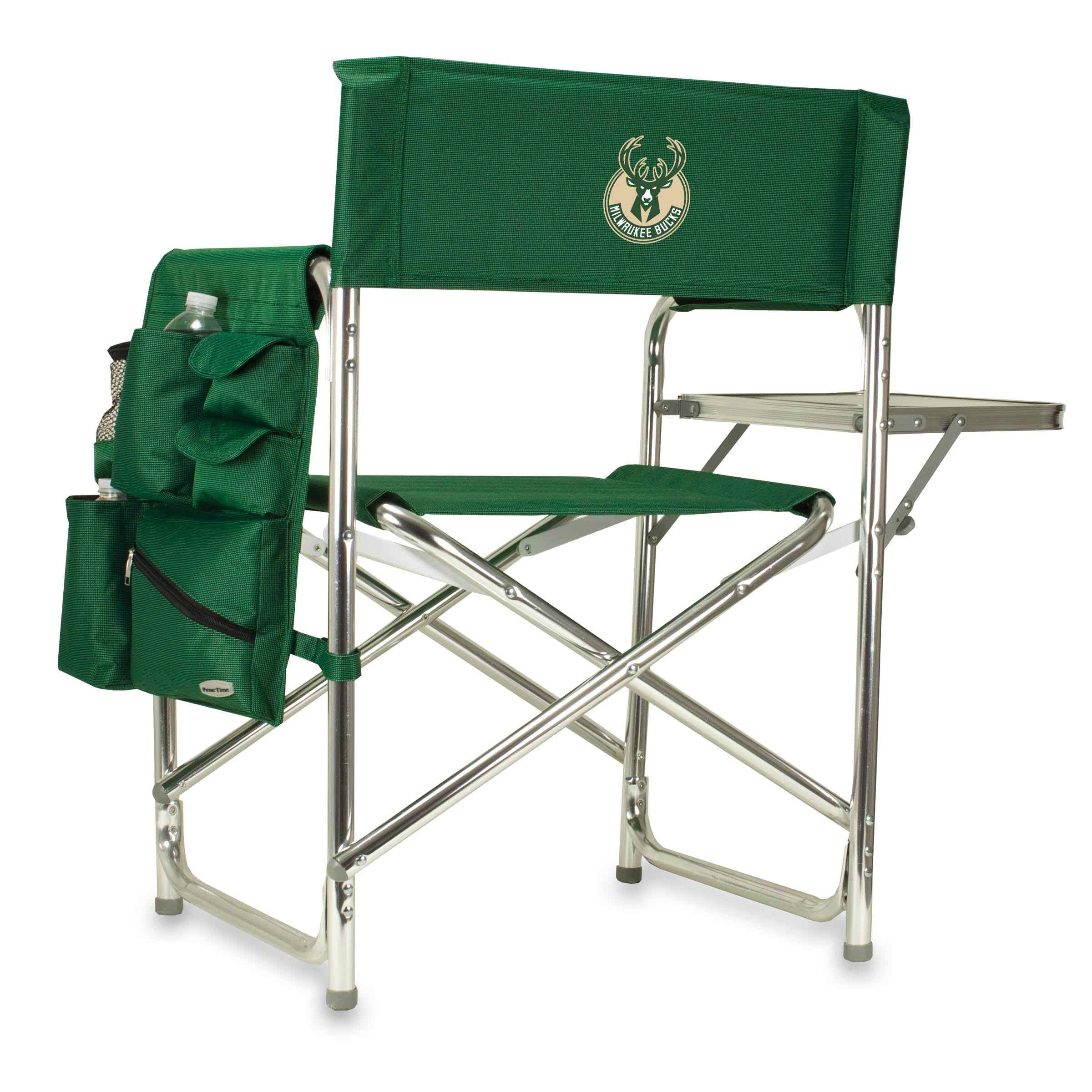 Picnic Time Nba Sports Chair Milwaukee Bucks