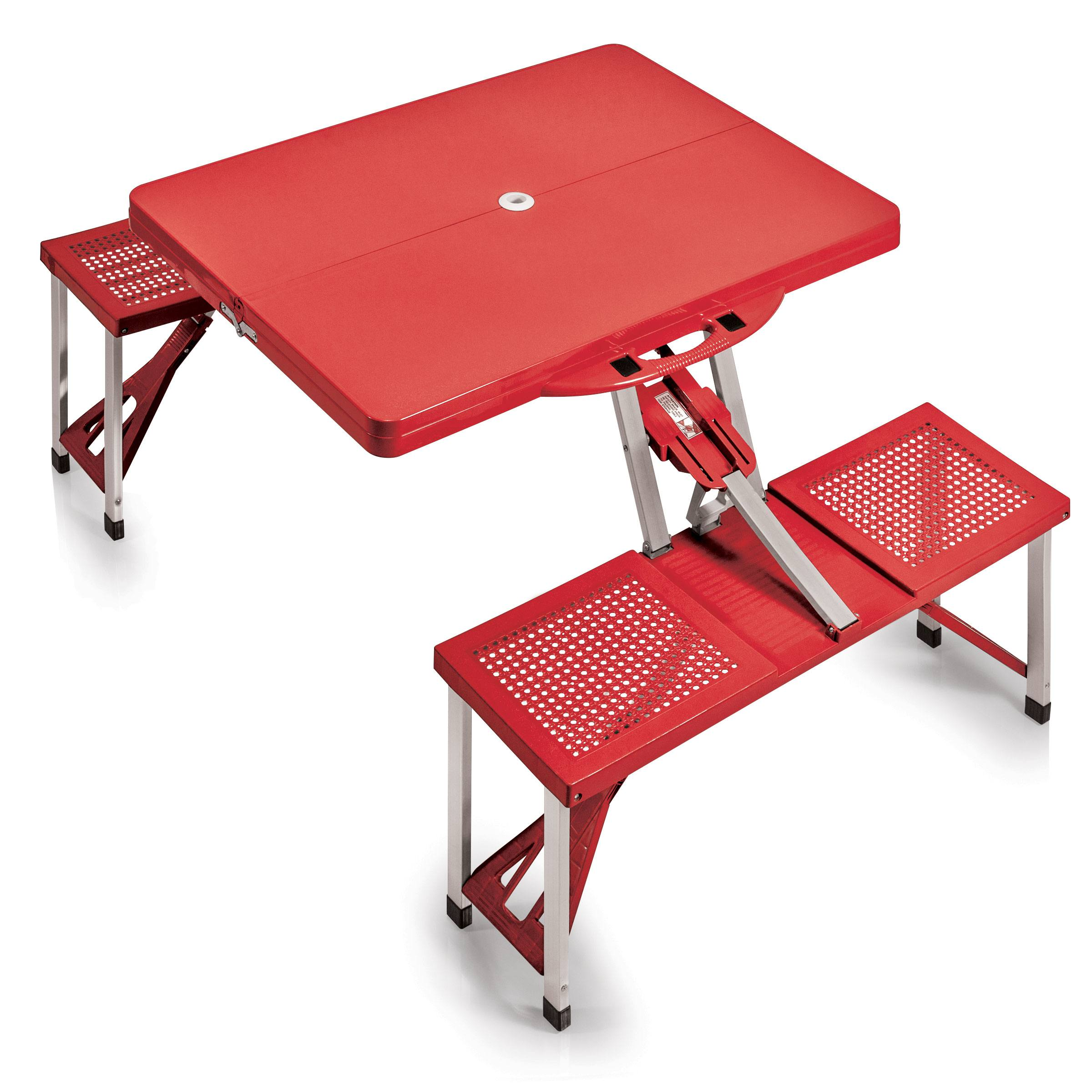 Picnic Table Portable Table And Seats Red